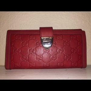 Authentic leather Gucci Guccissima monogram wallet